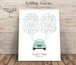Guestbook Alternative Printable Wedding Tree Car Fingerprint Guest Book Ideas