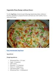 Vegetable Pizza Recipe Without Oven Try This Veg At Home By Just Following Simple