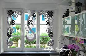 deko vorhang in schwarz grau für die küche http www