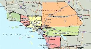 Southern Ca County Map State California Northern Counties