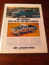 VINTAGE 1967 Chevrolet Pickup Truck Job Tamer Inner Strength Ad ...