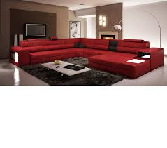 Red Sectional Living Room Ideas by Dreamfurniture Com Polaris Italian Leather Sectional Sofa In