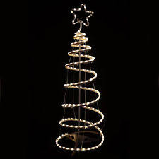 120cm Indoor Outdoor Multi Function Warm White Spiral Xmas Tree Rope Light
