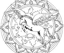 Realistic Flying Unicorn Coloring Pages Baby Cute