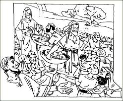 Coloring Pictures Of Happy Jesus Christ Feeds 5000 Drawings For Kids The