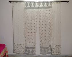 Chiffon Curtains Online India by Sheer Curtains Etsy