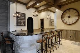Transitional Bar Stools With Rustic And Counter Home Pendants For