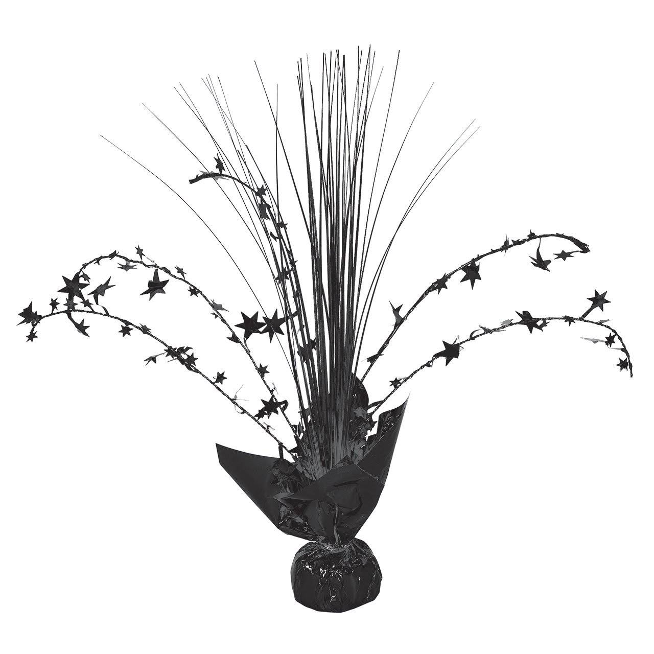 Amscan Spray Centerpiece - Jet Black, 12""