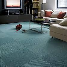 row teal carpet tile
