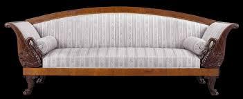 Living Room Leather Vintage Furniture Design Sofa Png Wood Frame On Navy Blue