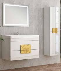 casa padrino luxus badezimmer set weiß gold 1 waschtisch und 1 waschbecken und 1 led wandspiegel und 1 hängeschrank luxus qualität