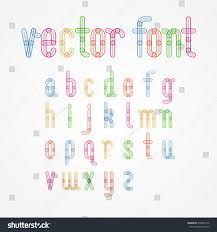 Lower Case Colorful Alphabet Capital