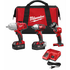 Milwaukee M18 18 Volt Lithium Ion Cordless bo Tool Kit 3 Tool
