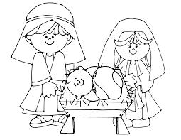 Free Printable Nativity Scene Color