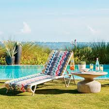 chaises color es all weather wicker colorblock woven outdoor chaise lounger elm