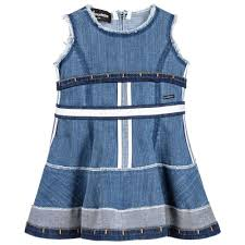 dsquared2 baby girls denim dress childrensalon