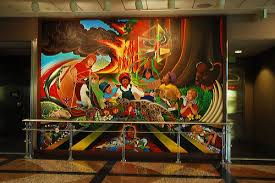 Denver International Airport Murals Removed by 100 Denver International Airport Murals Painted Over Denver