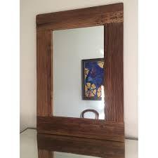 Pottery Barn Windowpane Wood Wall Mirror AptDeco