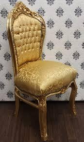 casa padrino barock esszimmer stuhl gold muster gold antik stil barock möbel