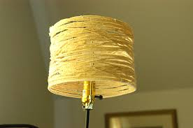 Picture Of DIY Rustic Lampshade Made Yarn
