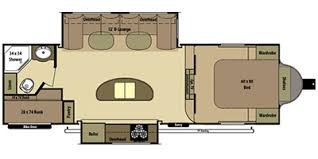Open Range Rv Floor Plans by 2014 Open Range Rv Light Fifth Wheel Series M 269bhs Specs And