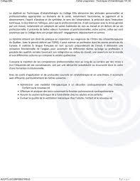 fiche de poste technicien bureau d udes cahier programme techniques d inhalothérapie 141 a0 pdf