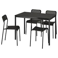 Table And 4 Chairs TÄRENDÖ / ADDE Black, Black Steel Ding Room Chairs Kallekoponnet Modern Narrow Table Set Cute With Photo Of 36 Round Natural Laminate With Xbase And 4 Ladder Back Metal Black Vinyl Seat 2 Ding Tables 8 Chairs In Metal Black Retro Design Square Walnut Grid Barstools Amazoncom Shing Wood Laneberg Svenbertil Brown Lucano Marble Leather Mesmerizing Iron Legs Reclaimed Base 5 Piece Kitchen Tag Archived Of Polyurethane Likable Pcs Table