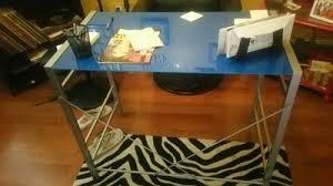 Mainstays Desk Chair Fuschia by Mainstays Glass Top Desk Multiple Colors Walmart Com