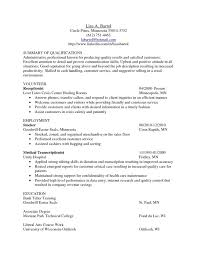 Awesome Medical Transcription Resume Samples Format Web Transcriptionist Sample No Experience Cover Letter Entry Leve