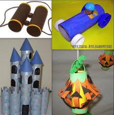 Toilet Paper Roll Binoculars Car Castle Lantern