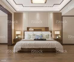 3d rendering schöne luxusschlafzimmersuite im hotel mit tv stockfoto und mehr bilder architektur