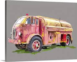 100 Fire Truck Wall Art Painterly Truck Canvas Prints Framed Prints