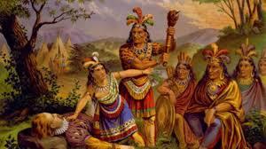 This Painting Portrays The Story Of Pocahontas Saving Life Captain John Smith