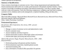 Dental Front Desk Receptionist Resume by Resume Verbiage For Receptionist Sample Resume For Dental