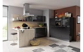 apartment küche global 51 160 in lavaschwarz hochglanz und