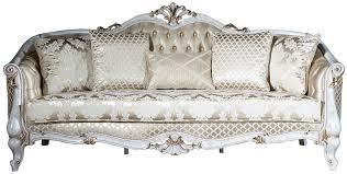 casa padrino luxus barock sofa gold antik weiß gold 222 x 103 x h 110 cm wohnzimmer sofa mit elegantem muster und dekorativen kissen barock