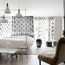 Black And White Bedroom With Four Poster Bed