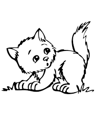 Cute Kitten Coloring Pages To Print