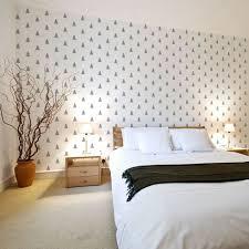 3 Fir Trees Wall Pattern Stencil DIY Decor