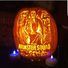 Pumpkin Carving With Drill by Monster Squad Carved Pumpkin Fan Creations Pinterest