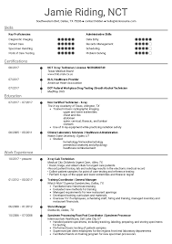 Medical Assistant X Ray Tech Resume Example