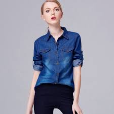 compare prices on jean shirt for women online shopping buy low