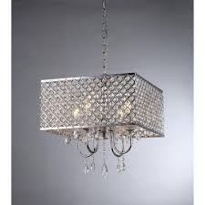 Home Depot Ceiling Lamp Shades by Warehouse Of Tiffany Zarah 4 Light Chrome Crystal Chandelier With