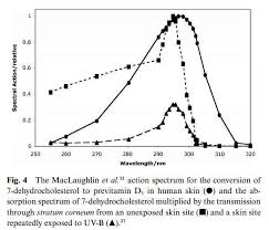is the uvb action spectrum for vitamin d correct no vitamin d