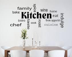 stickers cuisine phrase kitchen wall sticker etsy