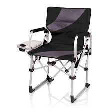 Folding Chairs At Walmart by Amazon Com Picnic Time Meta Portable Folding Chair Black Grey
