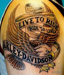 Live To Ride Biker Tattoo Picture By Charles Abttattoo