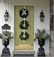 Winter Porch Idea Urns
