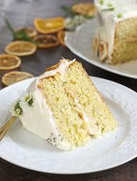 Lemon Poppy Layer Cake Slice