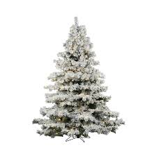 Vickerman 45 Ft Pre Lit Alaskan Pine Flocked Artificial Christmas Tree With 300 Constant
